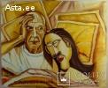 Пикассо с женой